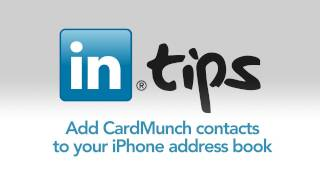 Add CardMunch contacts to your iPhone Address Book