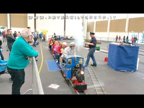 Steam train to transport people Wels modellbau 2015