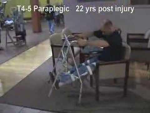 Paraplegic Using Long Leg Braces with a Walker - DEMO #9