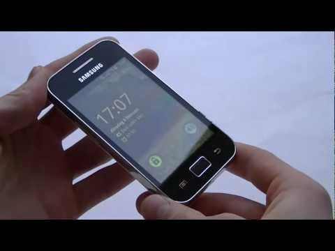 English: Samsung Galaxy Ace video preview
