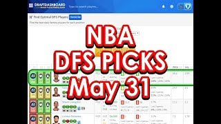 NBA DraftKings Picks Today FanDuel Picks Tonight 5/31/18