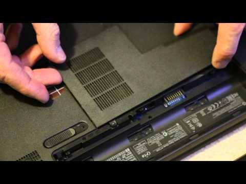 Remove Hard Drive Hewlett Packard HP250 G1 Notebook / Opening Case of HP 250 Laptop Add Memory