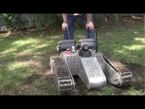 200 pound WiFi deploying robot