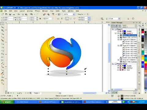 corel draw make logo 3d