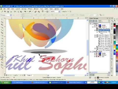 corel draw make logo 3d
