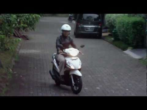 Test Ride Honda Spacy Helm In AT ( Honda NSC110 )