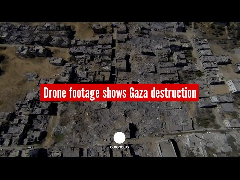 Gaza destruction: Drone footage shows 0% progress in rebuilding city