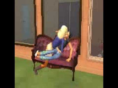 Sims 2 - Teenage Girls Making Out!