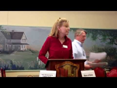 Ilene Walton talks about the Dalhart Center of Frank Phillips College on May 8, 2014.