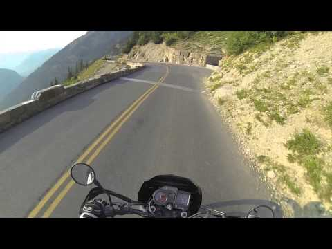 Going-to-the-Sun Road on a Motorcycle