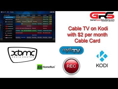XBMC Kodi Live TV HDHOMERUN Prime MythTV Cox Cable Card