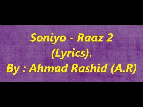 Soniyo Raaz 2 - Lyrics