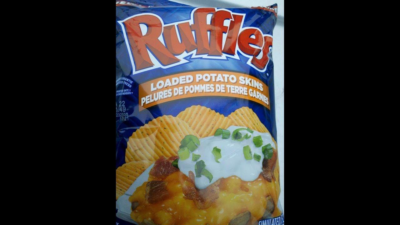 Loaded Potato Skins Chips Ruffles Loaded Potato Skins