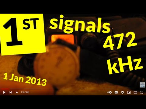 First signals on new 630 metre amateur band