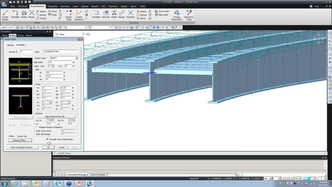 Midas E Learning Course 3 Numerical Modeling Analysis