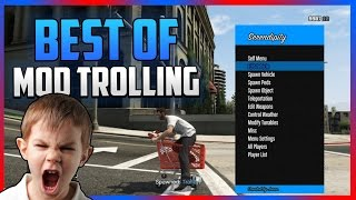 GTA 5 ONLINE - BEST OF MOD MENU TROLLING - HILARIOUS REACTIONS! (GTA 5 MODS)