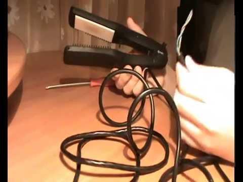 Ремонт выпрямителя для волос своими руками