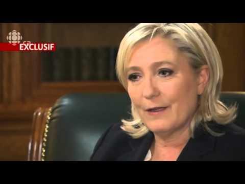Marine Le Pen entrevue reportage Radio-Canada 19.03.16