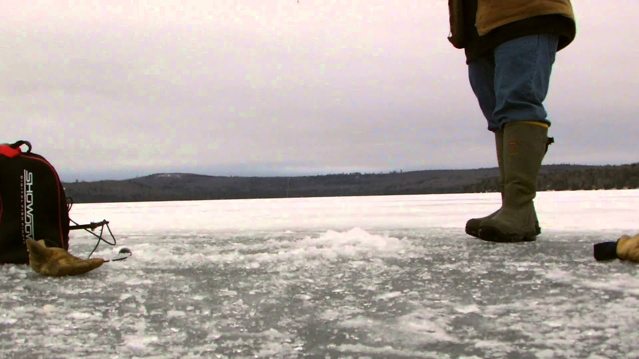 2013 maine ice fishing youtube for Maine out of state fishing license