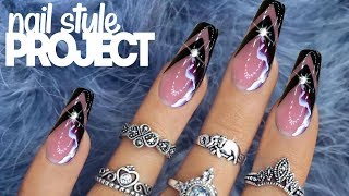 AMAZING tutorial of Russian Style Hardware Manicure and ARCH SQUARE SHAPE NAILS EXTENSIONS