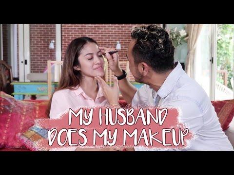 My Husband Does My Makeup w/ Giring Ganesha | CYNTHIA GANESHA | Couple Challenge