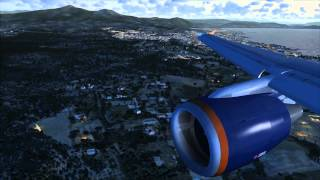 [FSX] Airbus A319 at Athens [LANDING]
