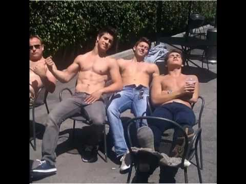 Shirtless on Waverly Place