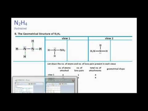 N2h4 Structure N2H4 : Lewis Structure...