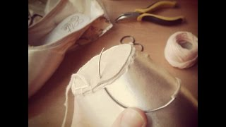 Pointe shoes - sewing and conditioning (English subtitles)