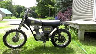 1974 XR75 Comes out to PLAY! Big Guy on a Little Motorcycle!! Shear off the valve stem