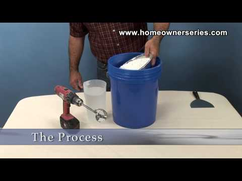 How to Texture Drywall - How to Mix Spray Mud - Drywall Repair