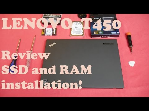 Lenovo T450- review. RAM and SSD upgrade!