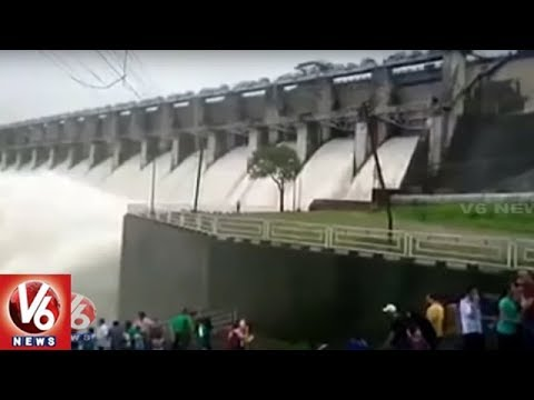 Telangana State Irrigation Projects Brimming As Water Level Increase With Heavy Inflows | V6 News