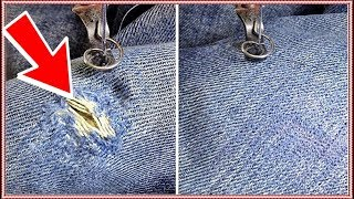 How To Darning on a Sewing Machine - Embroidery Darning Presser Foot