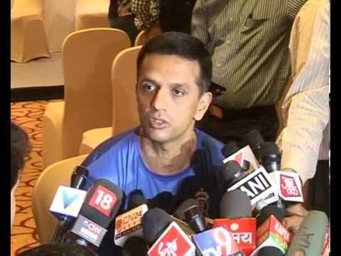 Rahul Dravid briefs media in Gujarat during Rajasthan Royals press meet