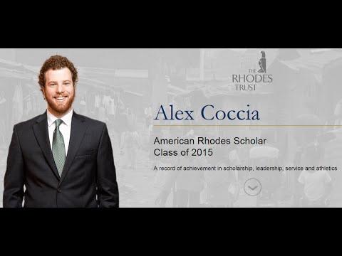 Notre Dame's Alex Coccia - 2015 Rhodes Scholar