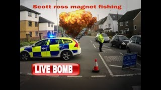 LIVE BOMB FOUND MAGNET FISHING IN KINGSLANGLEY HEMEl HEMPSTEAD