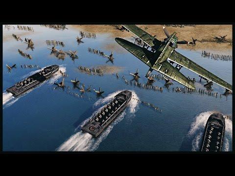 Russian Beach Assault - Soviet Invasion of Manchuria   Men of War Assault Squad 2 Gameplay