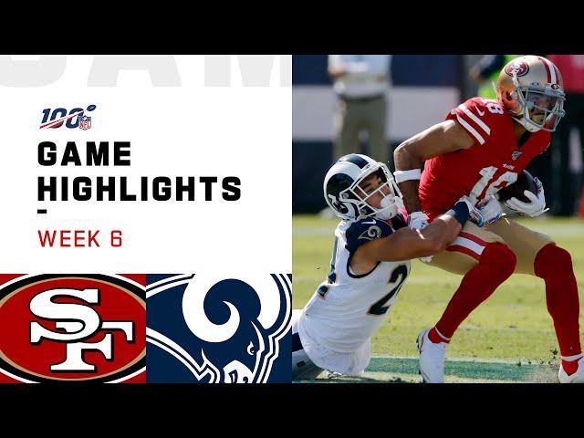 49ers vs. Rams Week 6 Highlights | NFL 2019 thumbnail