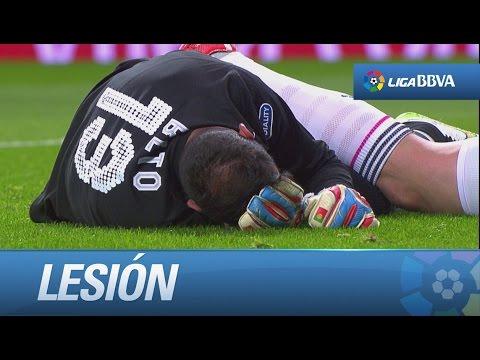 Lesión de Beto tras un fuerte choque con Benzema