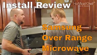 04. How To Install Over The Range Microwave With Samsung Review