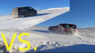 Ford Aerostar vs. Escape Snowy Hillclimb