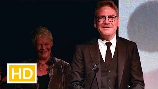 Kenneth Branagh and Judi Dench on theatre, jokes, critics: excellence in film award 2016