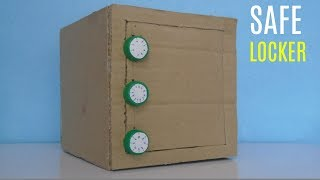 How to Make Safe with Combination Lock from Cardboard-Old is gold Production