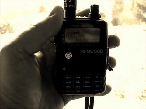 ISS hamradio contact received with a Kenwood handheld TH-F7