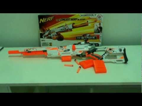 NERF Long Strike CS-6 White Out Series