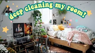 DEEP CLEANING MY ROOM