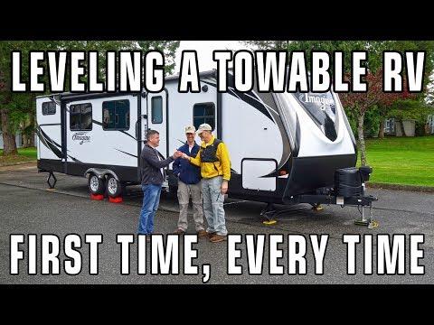 Leveling Travel Trailers & 5th Wheel RVs with LevelMatePRO