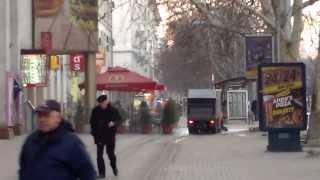 Chișinăul matinal, se spală pe față/trotuare