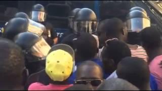 Les Sénégalais de Saragosse manifestent leur colère